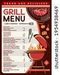 grill menu with bbq food vector ... | Shutterstock .eps vector #1954938469