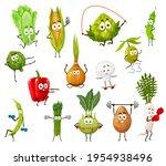 vegetable  bean and mushroom... | Shutterstock .eps vector #1954938496