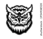 owl animal head with angry face ...   Shutterstock .eps vector #1954938520