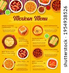 mexican cuisine vector menu... | Shutterstock .eps vector #1954938526