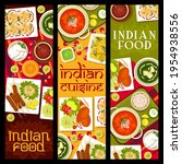 indian food restaurant dishes... | Shutterstock .eps vector #1954938556