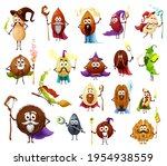 nut  seed and bean magician and ... | Shutterstock .eps vector #1954938559