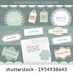 scrapbooking elements  vector... | Shutterstock .eps vector #1954938643