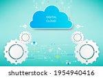 abstract vector technology... | Shutterstock .eps vector #1954940416