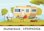 trailer outside area with... | Shutterstock .eps vector #1954942426