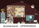 detective office interior flat...   Shutterstock .eps vector #1954942816
