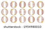 vector set of chinese round... | Shutterstock .eps vector #1954980010
