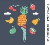 cartoon vector illustration of... | Shutterstock .eps vector #1954996246