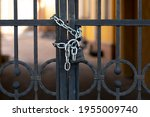 Black Iron Gate With Rust...