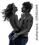 Sexy Stylish Topless Couple...