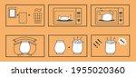 microwave popcorn instructions. ... | Shutterstock .eps vector #1955020360