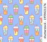 coffee takeaway drink seamless... | Shutterstock .eps vector #1955021176