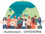 people in national clothes... | Shutterstock .eps vector #1955030986