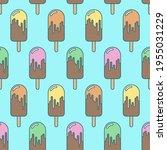 ice cream summer seamless... | Shutterstock .eps vector #1955031229