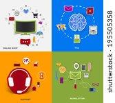 set of modern stickers. concept ...   Shutterstock . vector #195505358