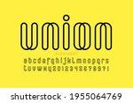 outline style modern font ... | Shutterstock .eps vector #1955064769