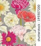 seamless floral pattern with... | Shutterstock .eps vector #195507200