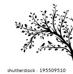 bird sitting on tree. vector... | Shutterstock .eps vector #195509510