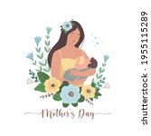 mother's day greeting card.... | Shutterstock .eps vector #1955115289