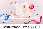 10 percent off. discount... | Shutterstock .eps vector #1955132110