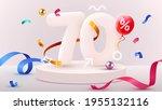 70 percent off. discount... | Shutterstock .eps vector #1955132116