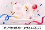 90 percent off. discount... | Shutterstock .eps vector #1955132119
