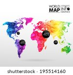 world map background in... | Shutterstock .eps vector #195514160