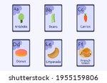 colorful alphabet flashcard... | Shutterstock .eps vector #1955159806