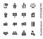 political elections vector icon ...   Shutterstock .eps vector #1955208799