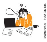 illustration of a businessman... | Shutterstock .eps vector #1955232136