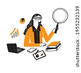 illustration of a research... | Shutterstock .eps vector #1955232139