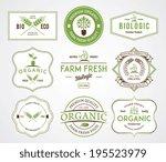 organic farm fresh badges | Shutterstock .eps vector #195523979