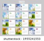 calendar planner for 2022.... | Shutterstock . vector #1955241553