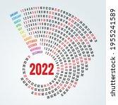 round calendar planner for 2022.... | Shutterstock . vector #1955241589