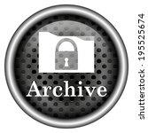 metallic black glossy icon on... | Shutterstock . vector #195525674