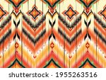 ikat geometric folklore... | Shutterstock .eps vector #1955263516