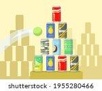 cartoon pyramid of lemonade... | Shutterstock .eps vector #1955280466