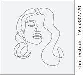 woman head vector lineart...   Shutterstock .eps vector #1955332720