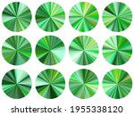 green concentric metallic...