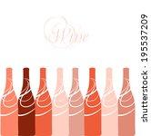 vector wine bottles silhouettes   Shutterstock .eps vector #195537209