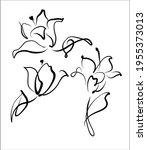 vector handmade fashion digital ...   Shutterstock .eps vector #1955373013