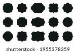Black Flat Empty Label Frames...