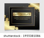 golden and black shiny glowing...   Shutterstock .eps vector #1955381086