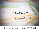 lindwell on a geographical map... | Shutterstock . vector #1955392993