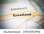 greetland on a geographical map ... | Shutterstock . vector #1955392996