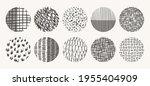 vector circle textures made... | Shutterstock .eps vector #1955404909