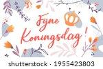 koningsdag or king's day in the ... | Shutterstock .eps vector #1955423803