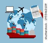 online business global trading... | Shutterstock .eps vector #1955463109