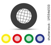 set of round colored buttons.... | Shutterstock .eps vector #195546533