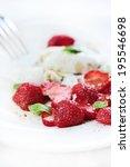 mozzarella and strawberry salad | Shutterstock . vector #195546698